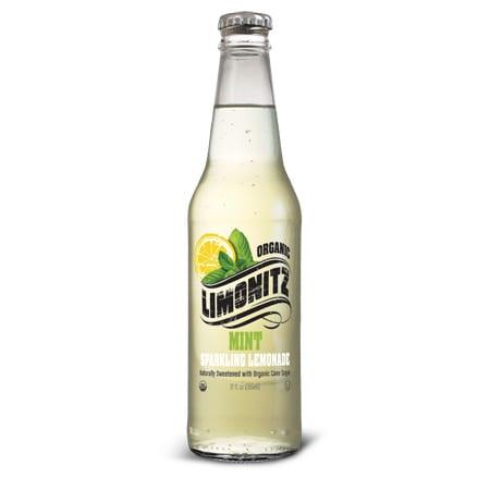 Limonitz Organic Sparkling Mint Lemonade 12oz Bottle